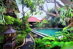Pendawa Gapura Hotel Bali - Tampilan Kebun