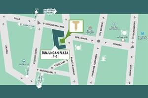 Hotel Tunjungan Surabaya - Peta