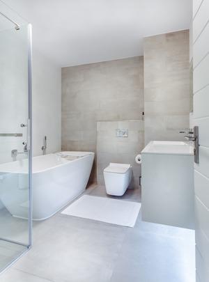 Hotel Qaqa Tttest Domestik - White Bathroom