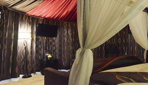 Highland Park Resort Bogor - Mongolian Camp Deluxe capacity 2-4 persons with 1 Double Bed and 2 Sofa bed