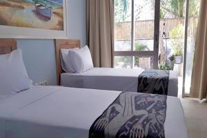 The Beach House Gili Lombok - Deluxe Garden Twin Bedroom