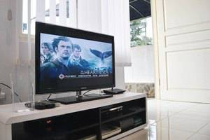 Villa Green Apple Malang - LCD, TV kabel, pemutar DVD, dan Wifi gratis