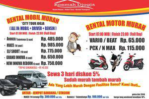 Roemah Djogja Family Guest House Yogyakarta - Rental Kendaraan