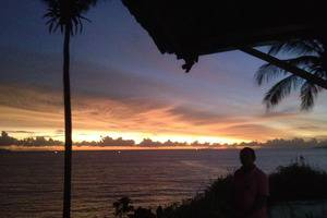 Bayu Amrta Hotel Sukabumi - Sunset - pemandangan dari restoran