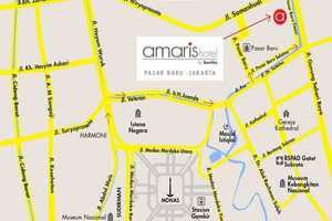 Amaris Pasar Baru Jakarta - Hotel Map