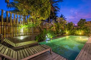 Purana Boutique Resort Bali - night pool