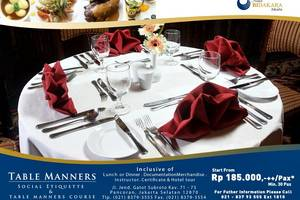 Hotel Bidakara Jakarta - Table Manner