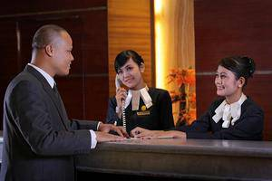 Grand Elite Hotel Pekanbaru - Reception1