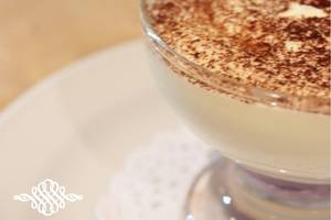 Golden Palace Lombok - Personal Glass tiramisu. Mascarpane sheese,purple sweet potato, choc powder and cinnamon