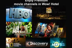 Wow Hotel Jakarta - Saluran film premium di setiap kamar