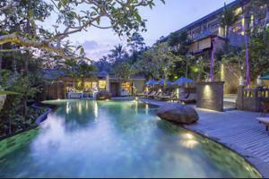 The Lokha Ubud - Hotel Front - Evening/Night