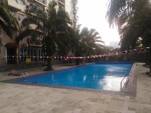 Pool View 2BR Mutiara Bekasi Apartment By Travelio
