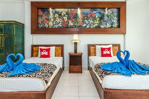 ZenRooms Ubud Dewi Sita Bali - Tampak tempat tidur twin