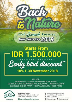 Villa Sawah Resort Managed by Salak Hospitality Bogor - Back to Nature