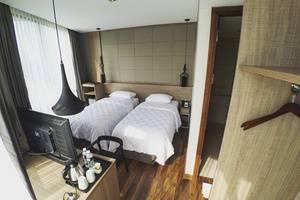 Rivoli Hotel Jakarta - Kamar Deluxe Twin di rivoli Hotel Jakarta