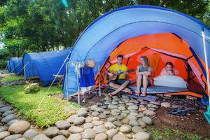 Green Coral Beach Camping Ground Tanjung Lesung Pandeglang - Tenda Kemah