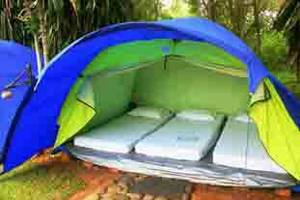 Green Coral Beach Camping Ground Tanjung Lesung Pandeglang - Bedroom