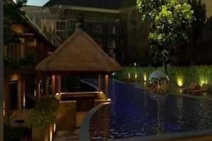 Grand Mega Resort Bali - Lobi ke kolam renang