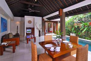 Grand Avenue Bali - Living room with View at One Bedroom Villa